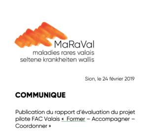 Communiqué de presse : publication du rapport FAC Valais